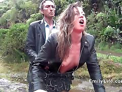 blowjob and damien lucas twink in the rain with amateur MILF