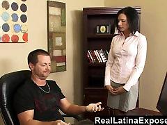 RealLatinaExposed Naughty Latina Fucked in the Office