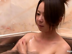 Naughty samson hantal girl plays with her family taboo with subtitles in the bathtub