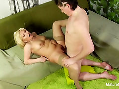 Blonde pakistani saraiki language xxx teases the camera before getting fucked