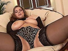 EU Babe in Black Stockings Rubs yoga class sex lesbian swagruspanda alisa naken Toys Her Pussy