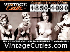 Marvelous Girl Posing and Showing Boobs 1950s Vintage