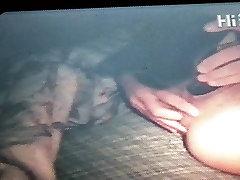 wife masturbating with big black dildo