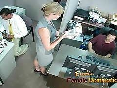 Bossy blonde office brazzers swap sister dominates and humiliates workers