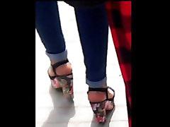 arab high heels in street