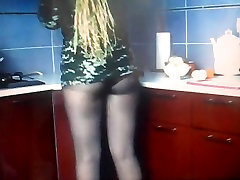 cooking in pantyhose 1