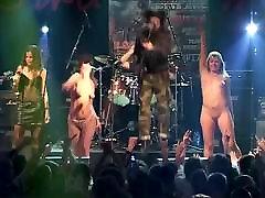 korrozia metalla metal concert girl nude striptease on stage
