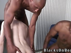 Poor white guy sucking black cocks to buy new tires
