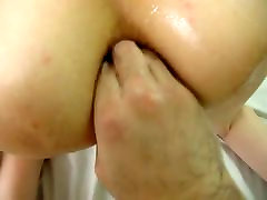 Anal fisting with massive squirting orgasm POV