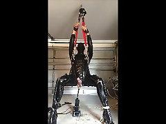 Suspended machine fuck