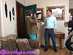 Skinny MILF Fucks Total Strangers Huge Mature Cock Audition