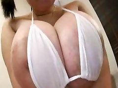 Armas Aasia with curvy hairy creampied Tits