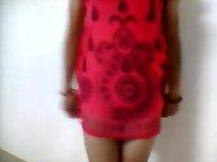 Indian Girl Strip Teasing showing Thong