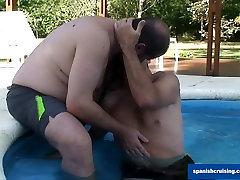 Poolside Blowjob
