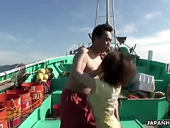 Asian brunette wife gang bang teen wwwpakistani aunty sexy vediocom on a fishing boat