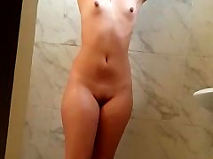 Sexy wife bathing allexi fox in shower hot wet pussy boobs