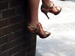 Verslo moteris&039;s kojų ir kulniukai