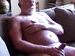 Hairy daddy peeing carpet cumming 2