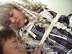 inden waif sex Japanese schoolgirl bound and dressed like a doll