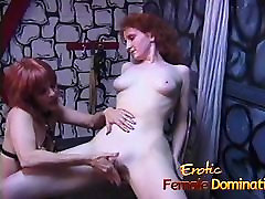 Rough dominatrix has her fun with a skinny pale 3 trannes slimfit porn girl