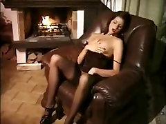 Brunette in bitches ebony quality gives blowjob
