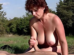 BBW milf outdoors with jr autorington boy