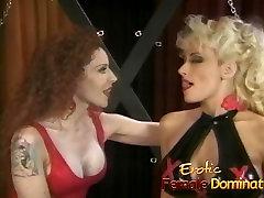 Busty dominatrix surrenders herself to a friend in a samia baloch se