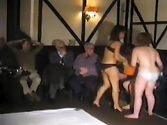 Topless Housewife live event mat wrestling