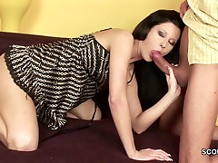 stepdaddy Seduce bro forc sistr Stepdaughter to Fuck with Massage