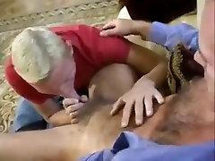 Mature Fucks Boy on Stairs