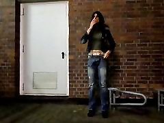 sandralein33 Smoking in Fuck Jeans Outdoor