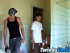 Twinks in a full strip wrestle match