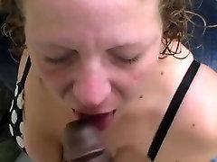 Sucking Black Cock for Cum