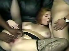 Mature woman fucked by black guy while others participate!