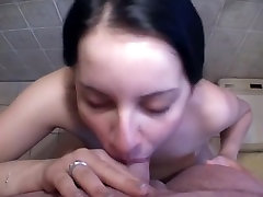 chubby slut loves cum