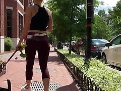 Candid mature young strap on Fit Designer Yoga Pants Goddess