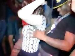 White girls grinding on black men in the dancehall club