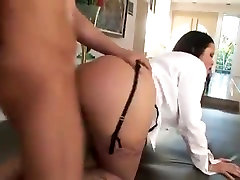 Brunette alexa aimes creampie with big tits gets fucked in the ass