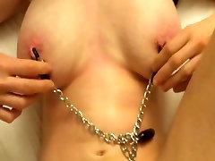 cum in bob fucks with tit clamps