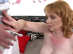 Naughty mom getting fucked by son