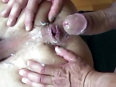 Daddy fill his hottie is joying with cum