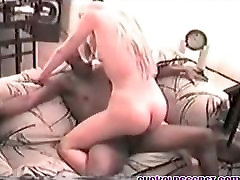 Cuckold MILF fucked by BBC Bull at home Sissy husband watche