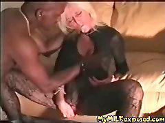 My MILF exposd Cuckold china movies xxxx com wife and BBC bull in stockings