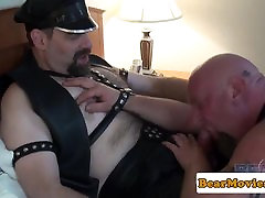 Leather porn home wife bf Steve Sommers fucks chubby bear