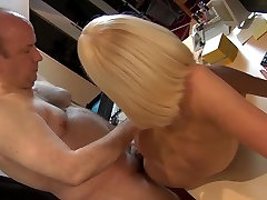 Slutty young nurse mouth checking old man penis in 69 fuck