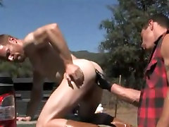 Outdoor fisting and fucking