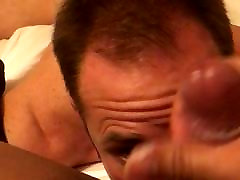 HOTTEST cum swallowing slave licking her ass and balls