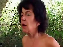 Oma Outdoor Anal Sex