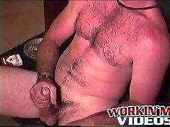 red slutty dress amateur dude Brandon loves to jerk his hard cock
