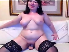 Russian hous wife and postmaster sex masturbating on cam